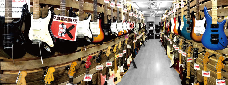 エレキギター売り場