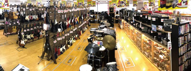 楽器売り場全景