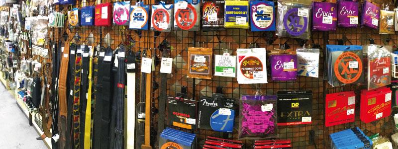 弦、楽器小物売り場