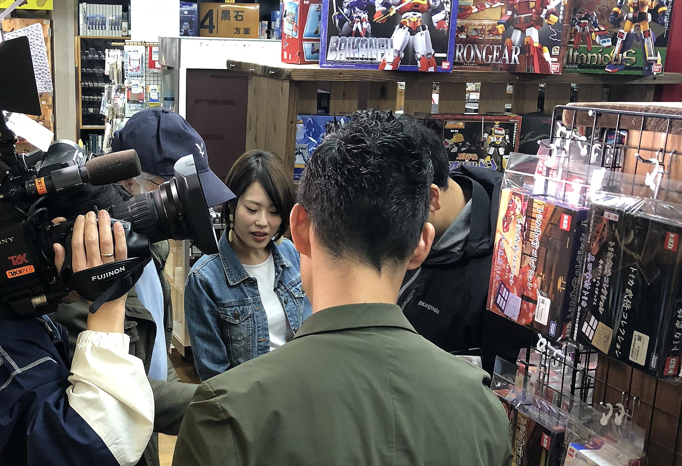 TSK山陰中央テレビ取材、リコレクションズ店内にて